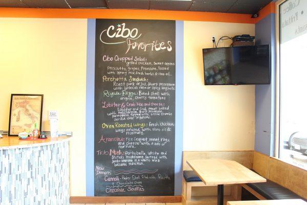 wall menu Cibo By Illiano Italian take-out Restaurant Marlton, NJ