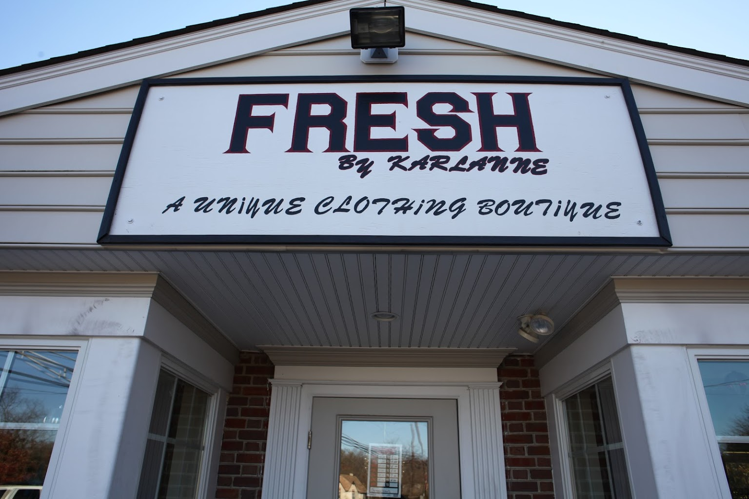 front sign Fresh By Karlanne Clothing Boutique Marlton, NJ