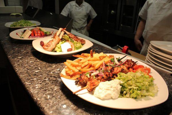 shiskabob platter Black Olive Restaurant, Voorhees, NJ