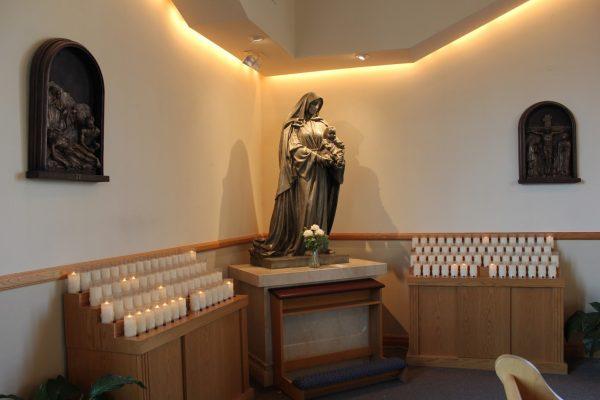 virgin mary prayer station catholic Church of the Incarnation Mantua, NJ
