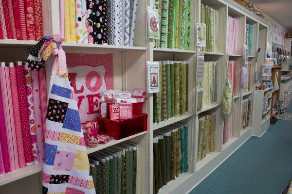 wall display The Little Shop fabric Store, Haddonfield, NJ
