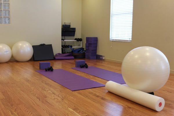 yoga mat and ball Anu Medical Spa Voorhees, NJ