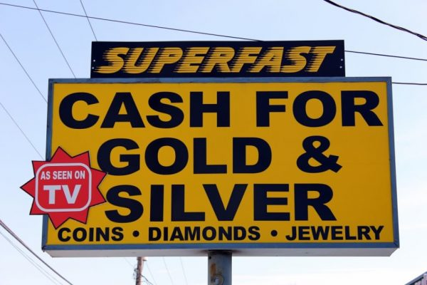 Cash for Gold in Cherry HIll New Jersey as seen on tv Sign