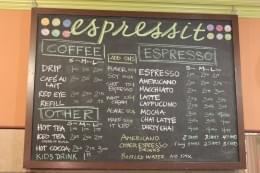 Espressit Coffee House Menu