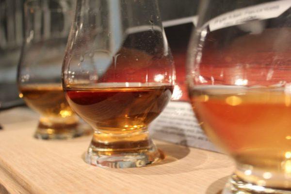 Keg&Kitchen Westmont NJ flight of whiskey