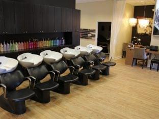 Moxie Blue Makup in Marlton NJ shampoo stations