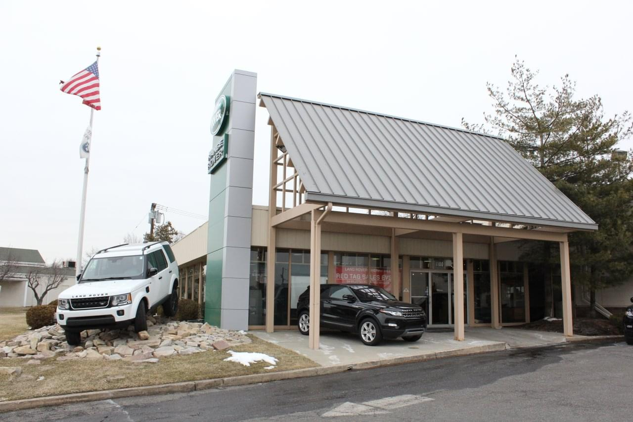 Outside of Land Rover in Cherry Hill New Jersey