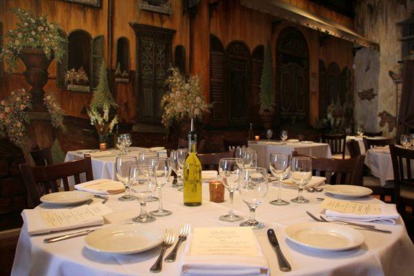 Villa Barone Collingswood NJ Table Setting