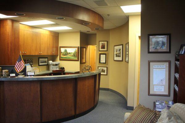 Front desk of Dr. Jonathan H. Orenstein, DMD Prosthodontics, Marlton, NJ.jpg
