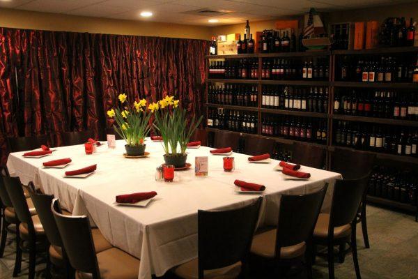 dining room table Pasta Vino Italian Restaurant, Berlin, NJ