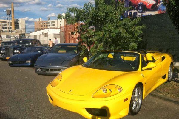 Yellow ferarri Michael's Motor Cars Used Car Dealership, Neptune, NJ