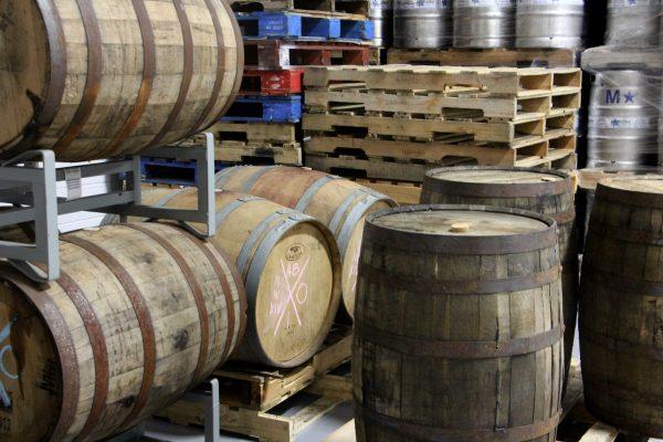 aging barrels Flying Fish Brewing Co, Somerdale, NJ