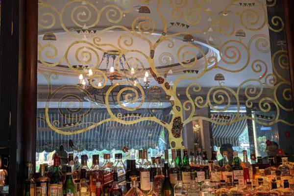 bar mirror at Rouge Restaurant, Philadelphia, PA