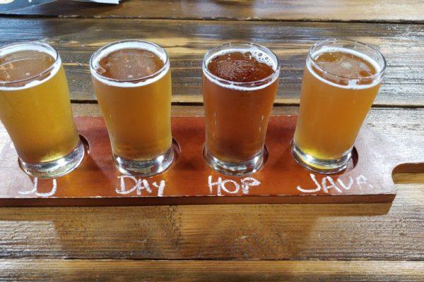 beer tasting flight Flying Fish Brewing Co, Somerdale, NJ
