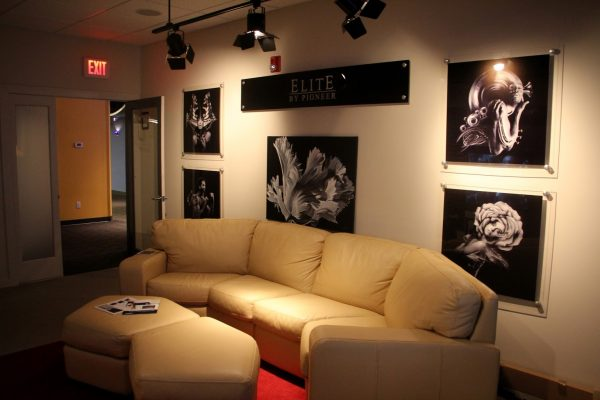 couch at HI-FI Sales Home Theater Equipment, Cherry Hill, NJ