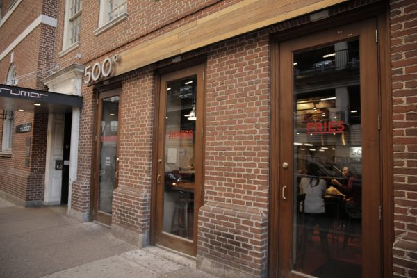 exterior of 500 Degrees Restaurant, Philadelphia, PA