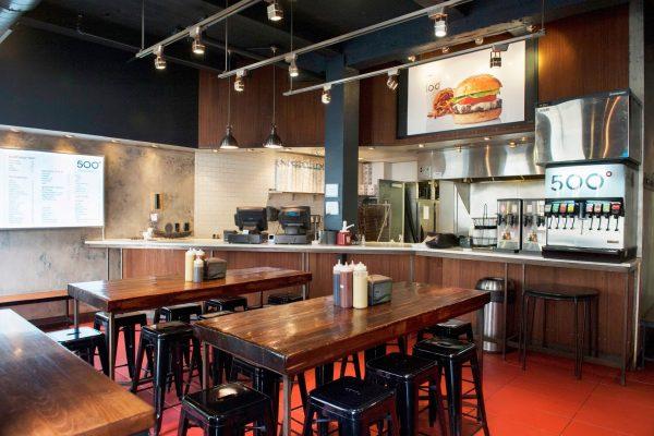 interior of 500 Degrees Restaurant, Philadelphia, PA