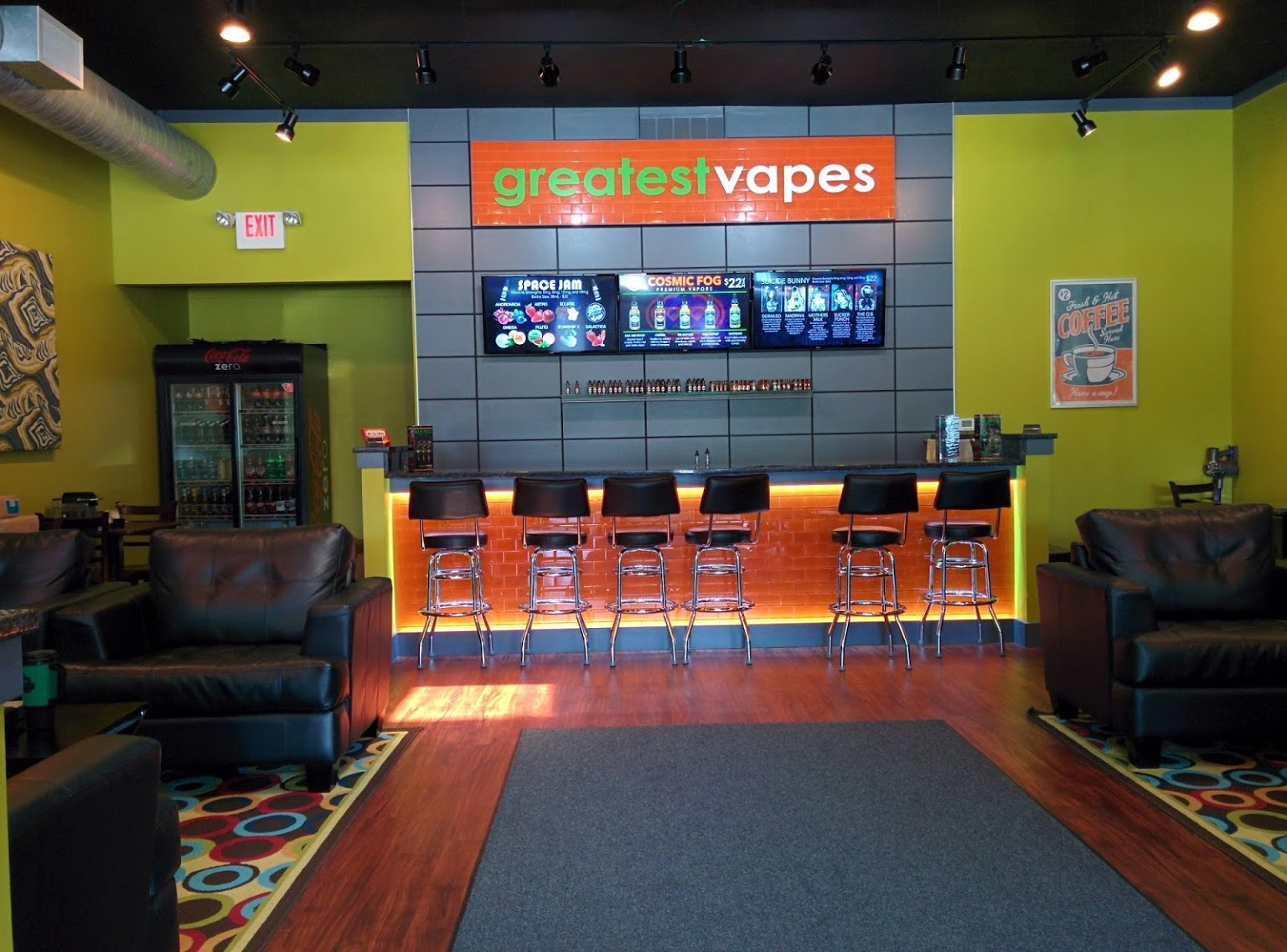 interior of Greatest Vapes and CBD Smoke Shop, Cherry Hill, NJ