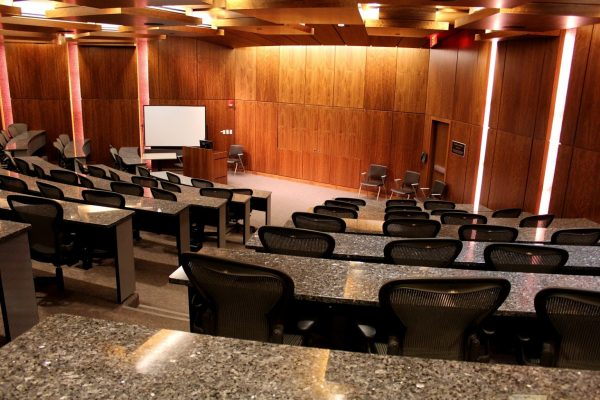 lecture hall at Rutgers Business School - See-Inside University, Newark, NJ