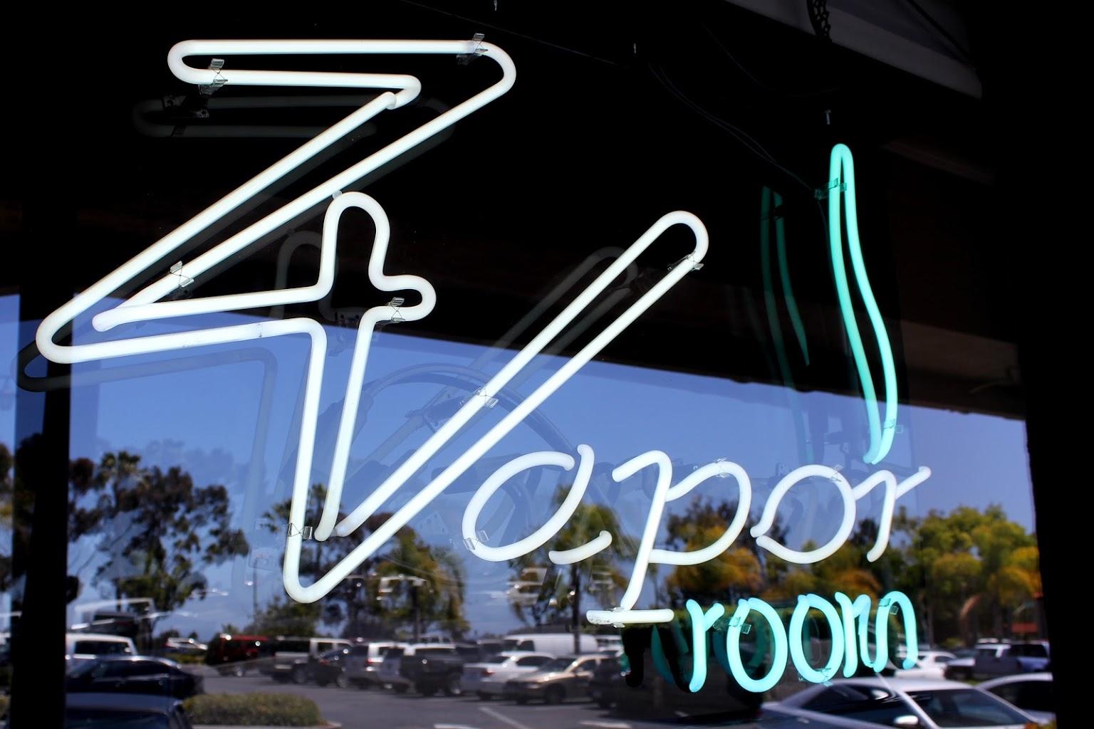 neon sign Z Vapor Room, Oceanside, CA