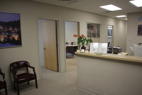 reception at The Law Office of Mark Bernstein Attorney, Cherry Hill, NJ