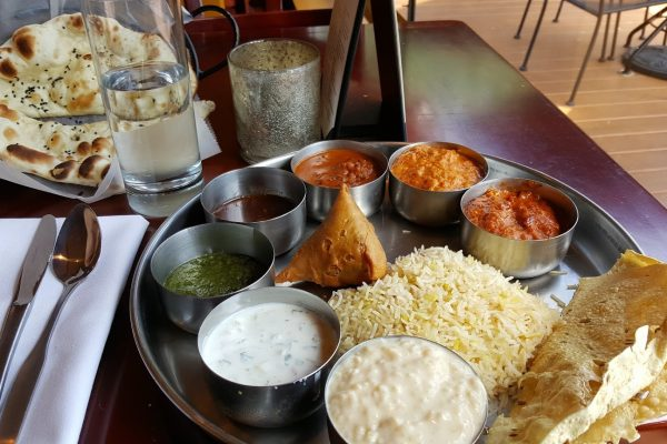 samosa naan rice IndeBlue Indian Restaurant in Collingswood NJ