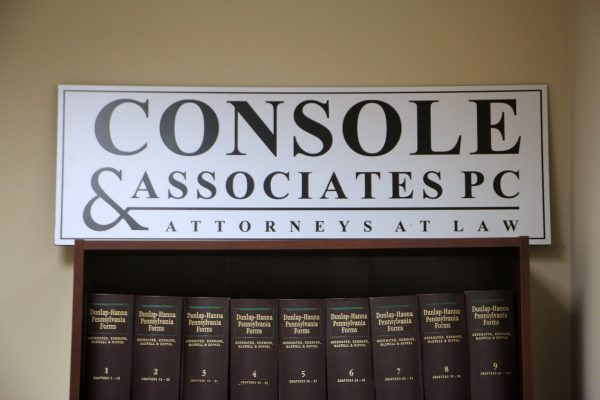 sign books Console and Associates P.C. Law Office in Philadelphia, PA
