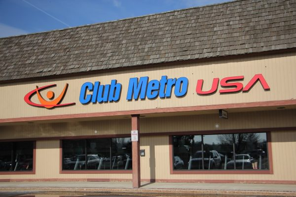 store front fitness gym Club Metro New Britain, PA