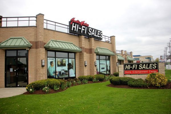 store front of HI-FI Sales Home Theater Equipment, Cherry Hill, NJ