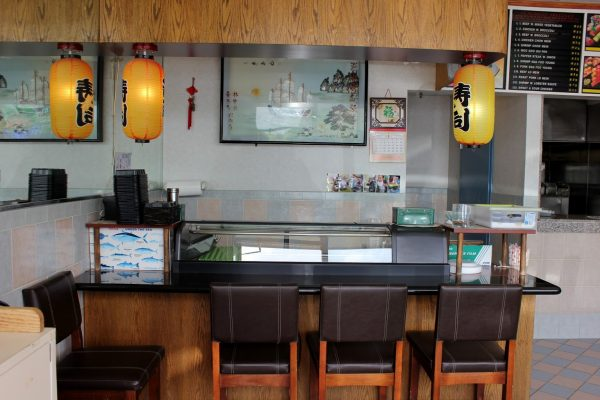 sushi bar at King Wong Chinese Restaurant, Marlton, NJ.jpg