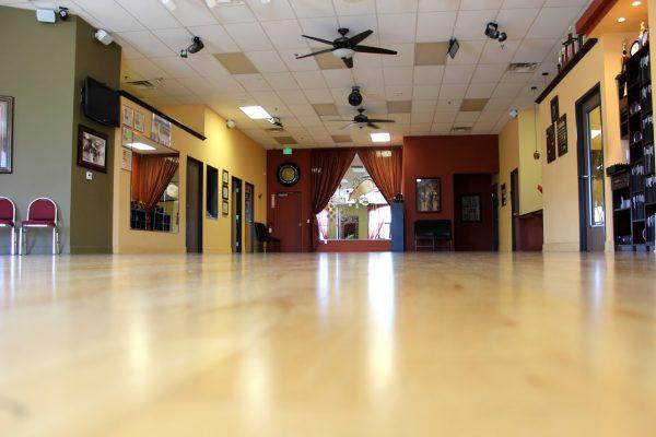 worms eye view of dance floor Arthur Murray Dance Studio, Temecula, CA
