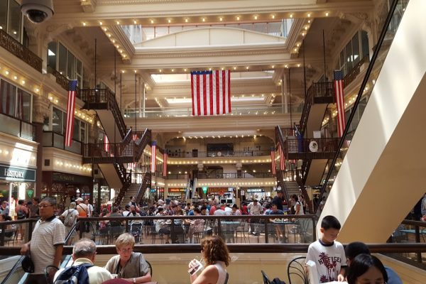 Interior of The Bourse Food Court & Shopping, Philadelphia, PA