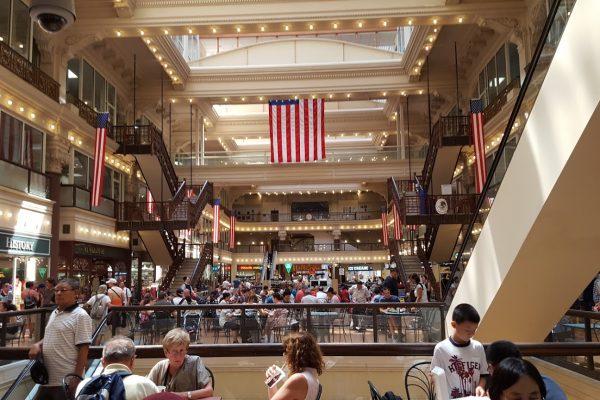 Interior of The Bourse Food Court & Shopping, Philadelphia, PA
