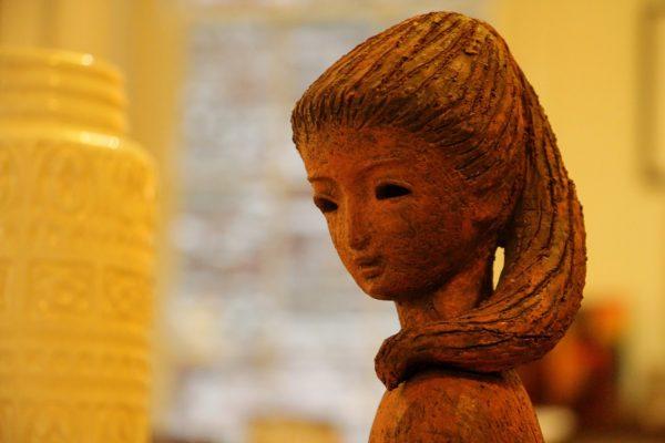 clay sculpture Mode Moderne furniture Store, Philadelphia, PA