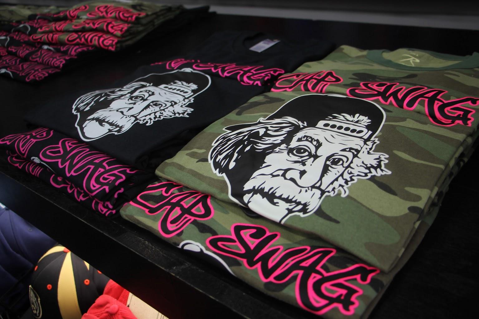 einstein tee shirts at Cap Swag snap back hats Wildwood, NJ