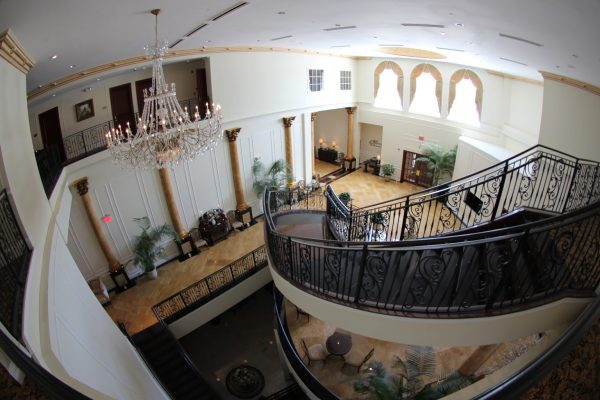 stairs at The Merion Weddings banquet, Cinnaminson, NJ
