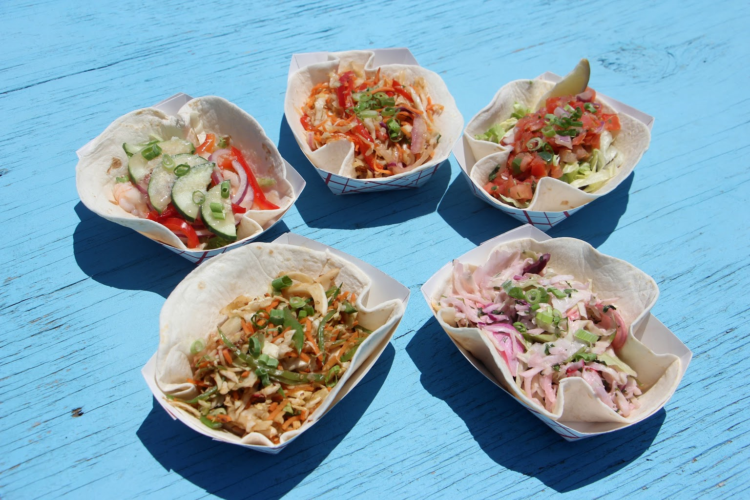 5 tacos in star pattern MOGO Korean Fusion Tacos - See-Inside Taco Stand, Asbury Park, NJ