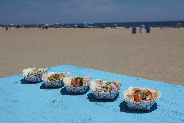 5 tacos on beach front MOGO Korean Fusion Tacos - See-Inside Taco Stand, Asbury Park, NJ