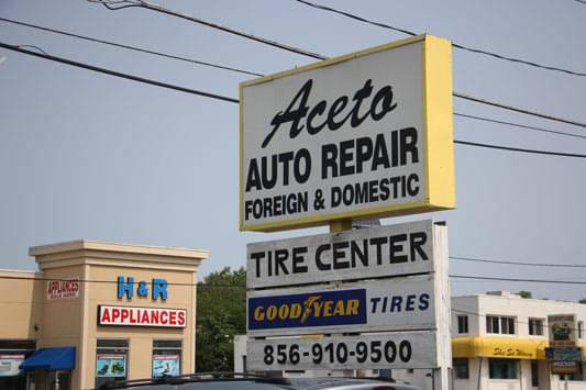 aceto auto repair pennsauken nj sign