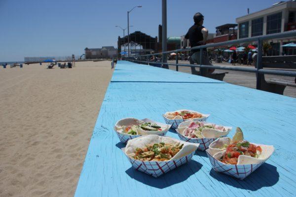 blue leading line MOGO Korean Fusion Tacos - See-Inside Taco Stand, Asbury Park, NJ