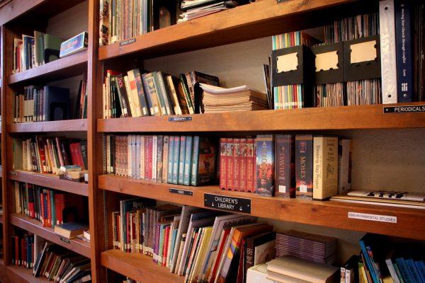 book shelf at St Michael's Lutheran Church - Cherry Hill, NJ