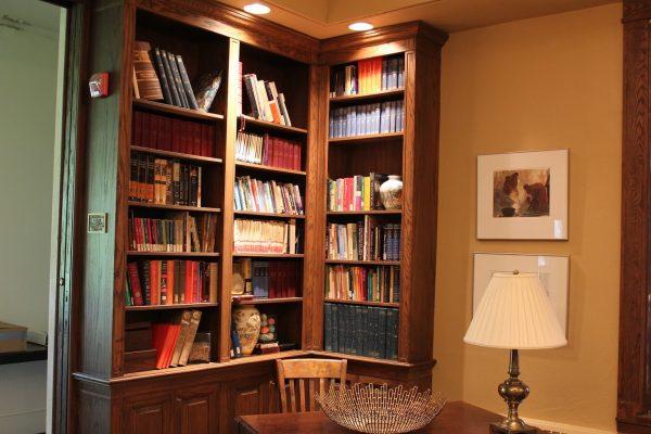 book shelves at Glencoe Union Church – Glencoe, IL