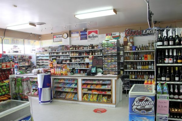 cashier counter at Pike Wines & Liquors in Hammonton, NJ