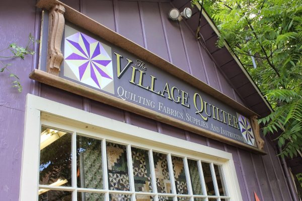 front sign of The Village Quilter – Mount Holly, NJ – retail store