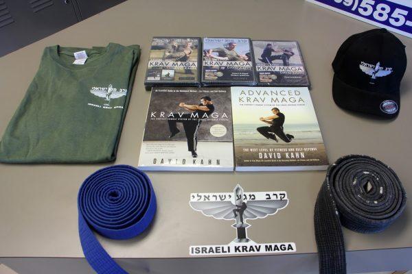 instructional dvds and belts at Israeli Krav Maga Martial Arts, Bordentown Township, NJ