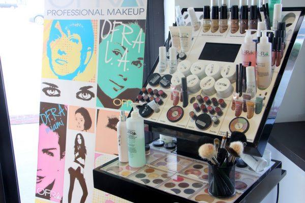 make up display at Shore Beauty School Beautician Training, Egg Harbor Township, NJ