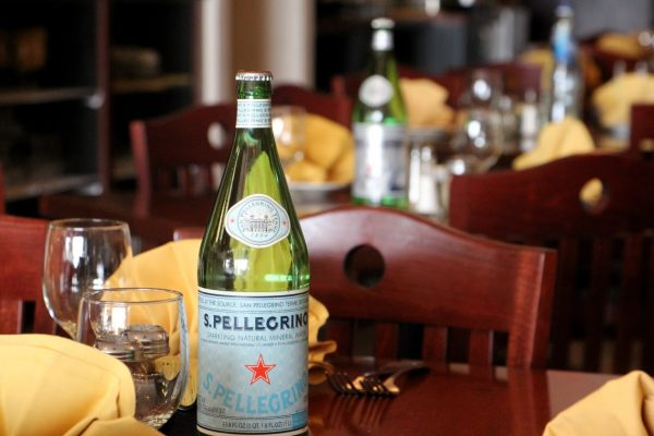 pellegrino water bottle at Vincent's Brick Oven Pizza - See-Inside Pizzaria, Maple Shade, NJ