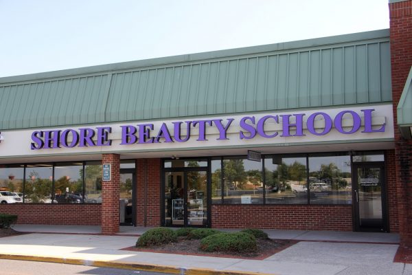 store front of Shore Beauty School Beautician Training, Egg Harbor Township, NJ