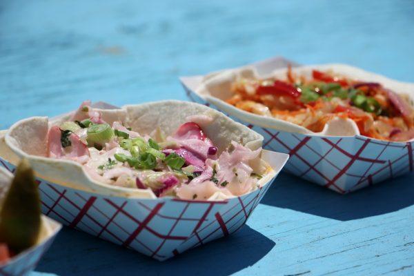 two soft shell tacos MOGO Korean Fusion Tacos - See-Inside Taco Stand, Asbury Park, NJ