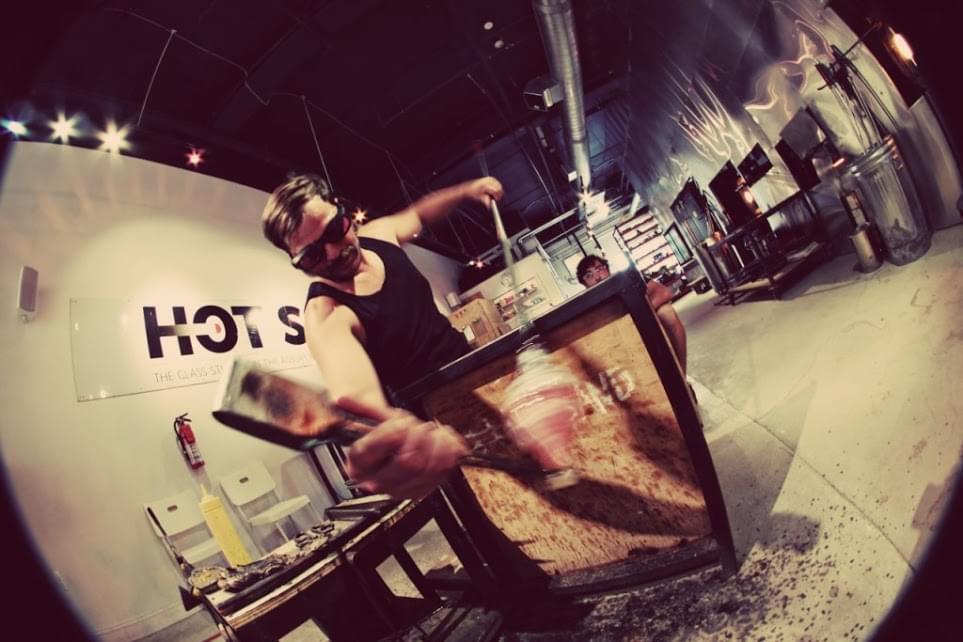 Hot Sand – See-Inside Glass sculpture, Asbury Park, NJ